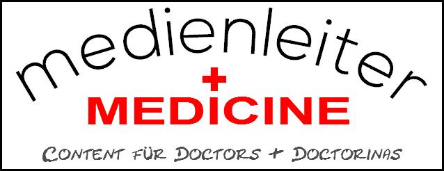 Das Bild zeigt das Logo von medienleiter MEDICINE, dem Content-Provider für Ordinationen, Wahlärzte, Praxisgemeinschaften
