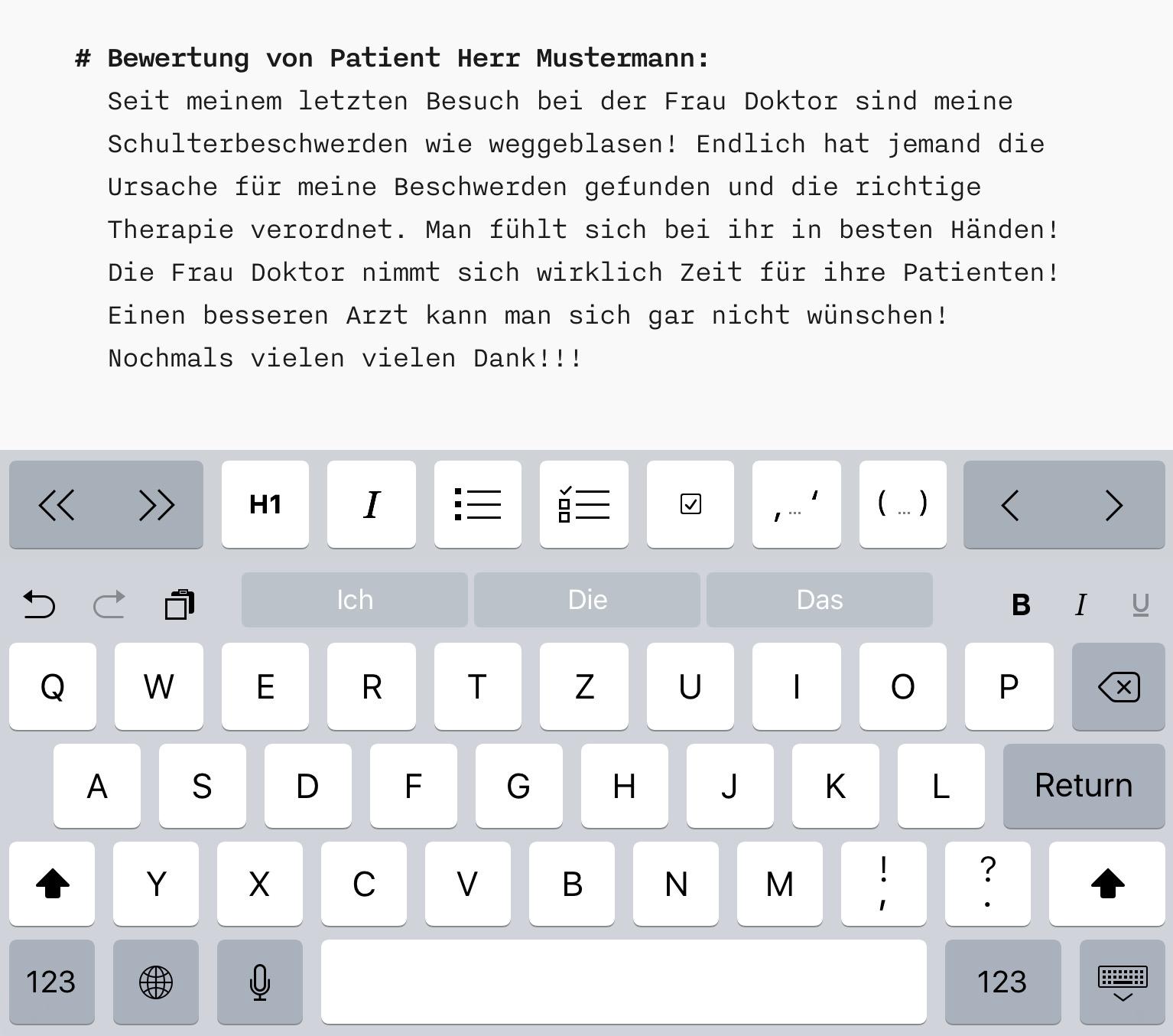 Arztbewertung online